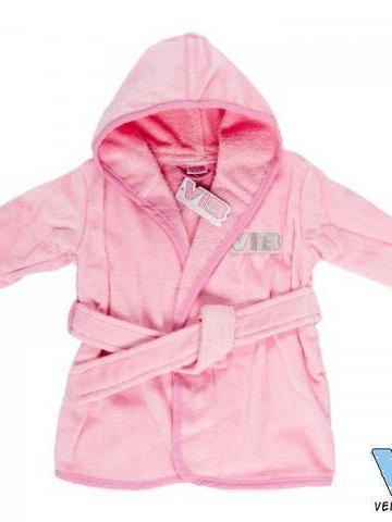 Badjas kleur wit-blauw of roze