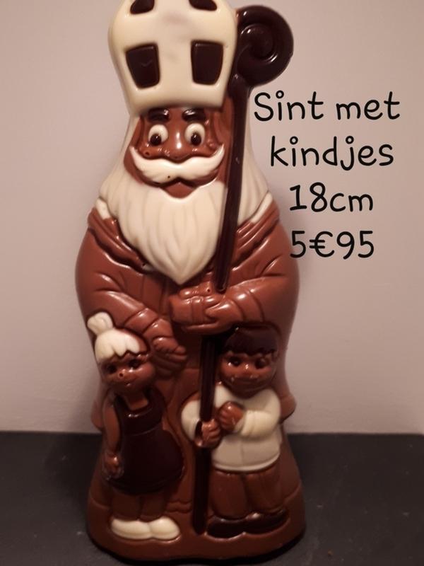 Sint met kindjes 18cm
