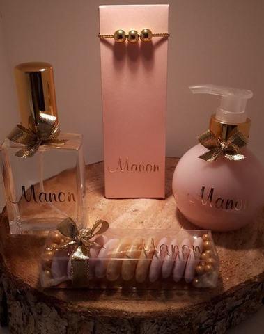 Luxy parfumflesje met gouden spray - 60 ml