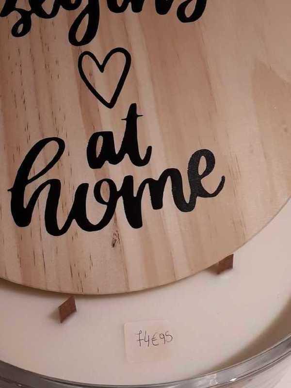 Luxe geurkaars met houten deksel 15 cm
