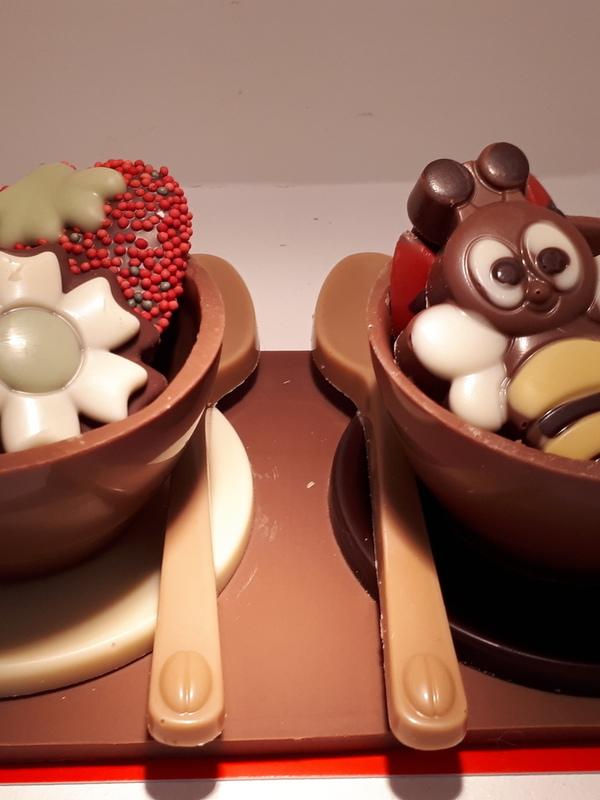 Setje chocolade koffietasjes